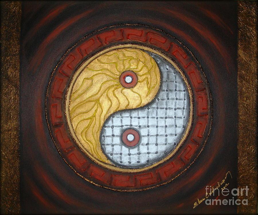 Yin Yang Painting - Yin Yang  by Elena  Constantinescu