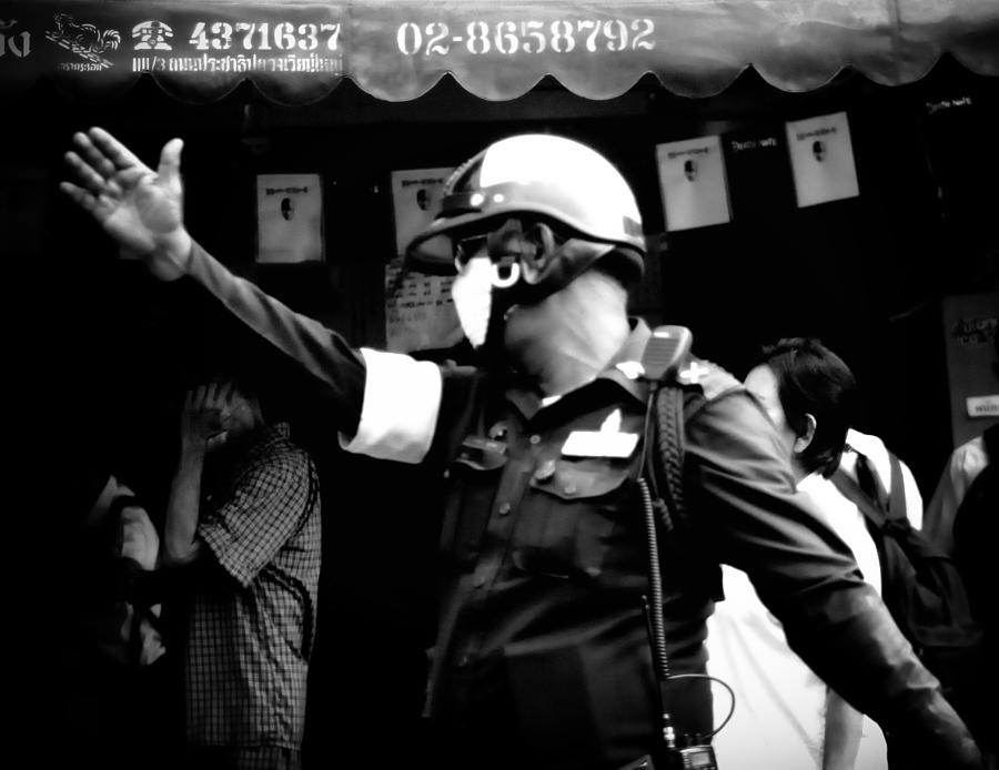 Thailand Photograph - Ymca Cop  by A Rey