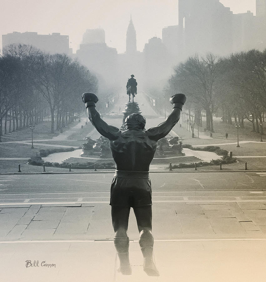 Rocky Photograph - Yo Adrian by Bill Cannon