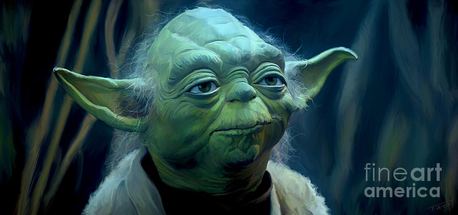 Star Wars Painting - Yoda by Paul Tagliamonte