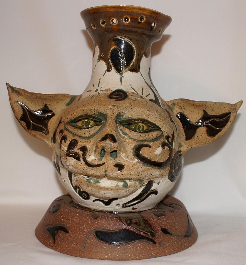 Yoda Ceramic Art - Yodas Brother by Susan Perry