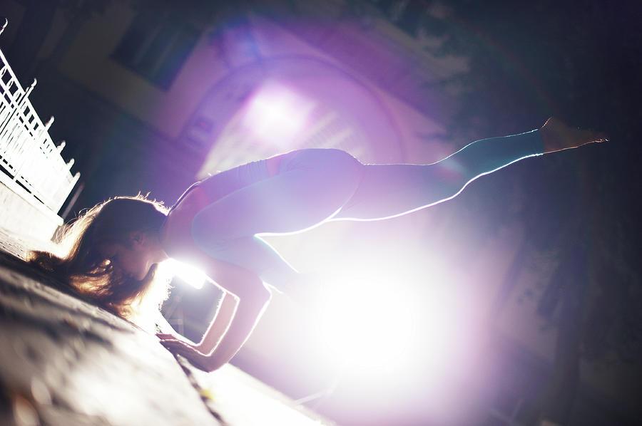 Yoga Eka Pada Bakasana Photograph by Myshkovsky