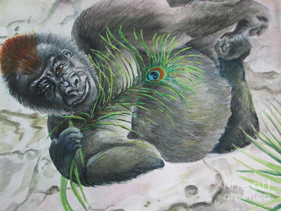 Orilla Painting - Yoga Exotica by Lynn Maverick Denzer