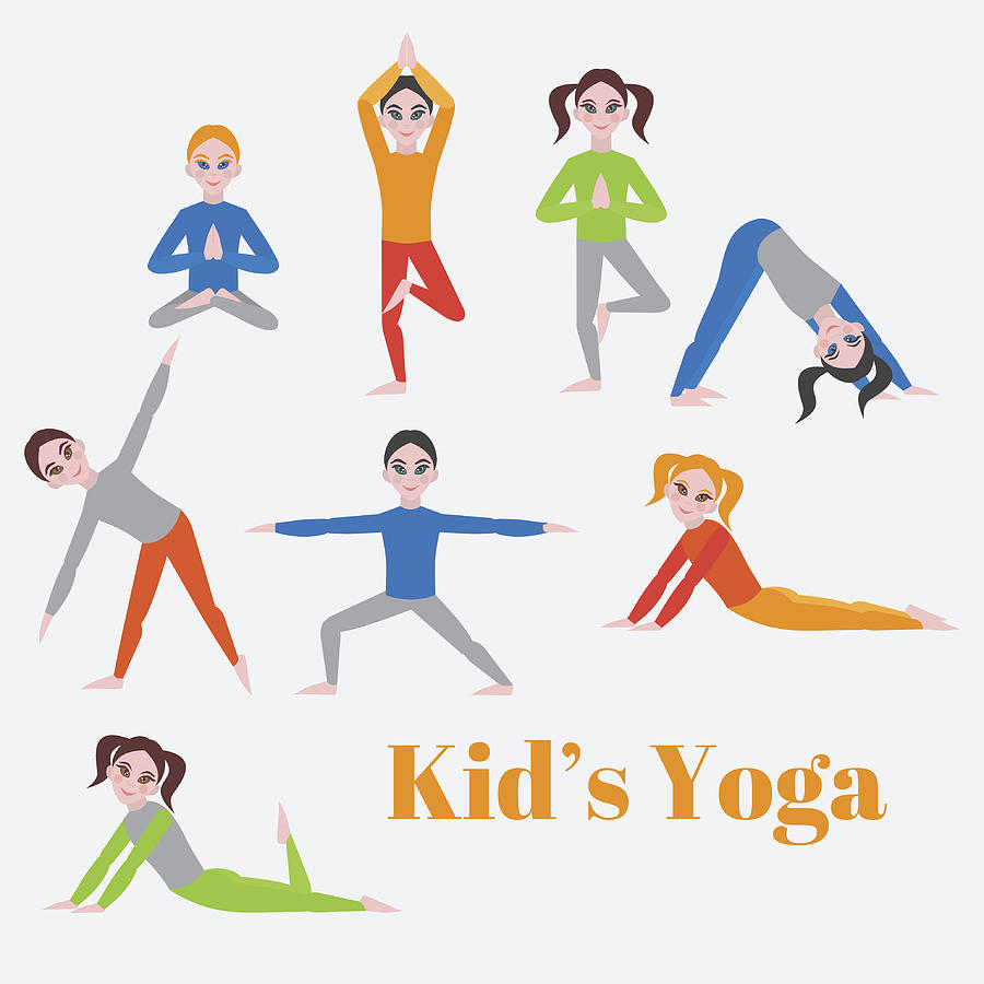 Children Yoga Drawing Dunia Belajar