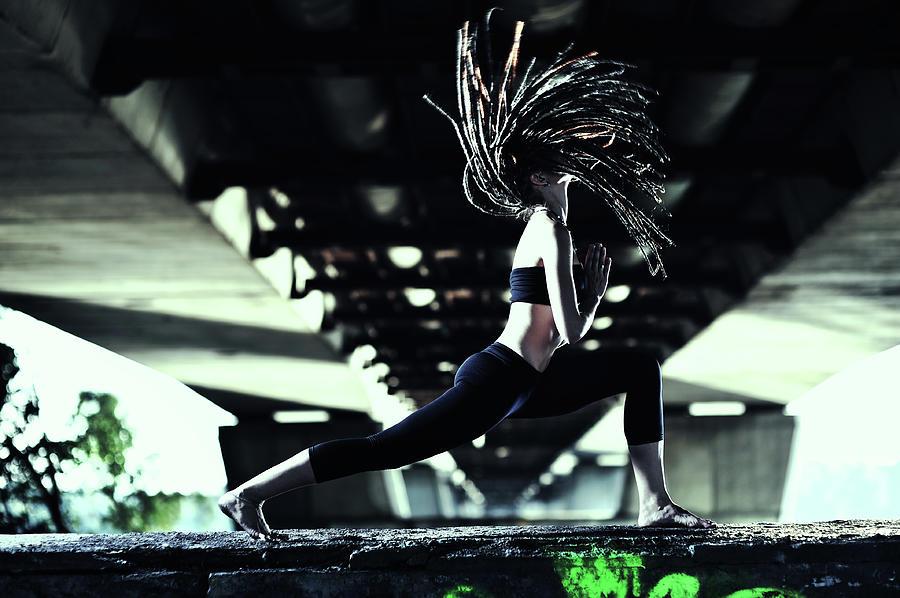 Yoga Virabhadrasana Photograph by Myshkovsky
