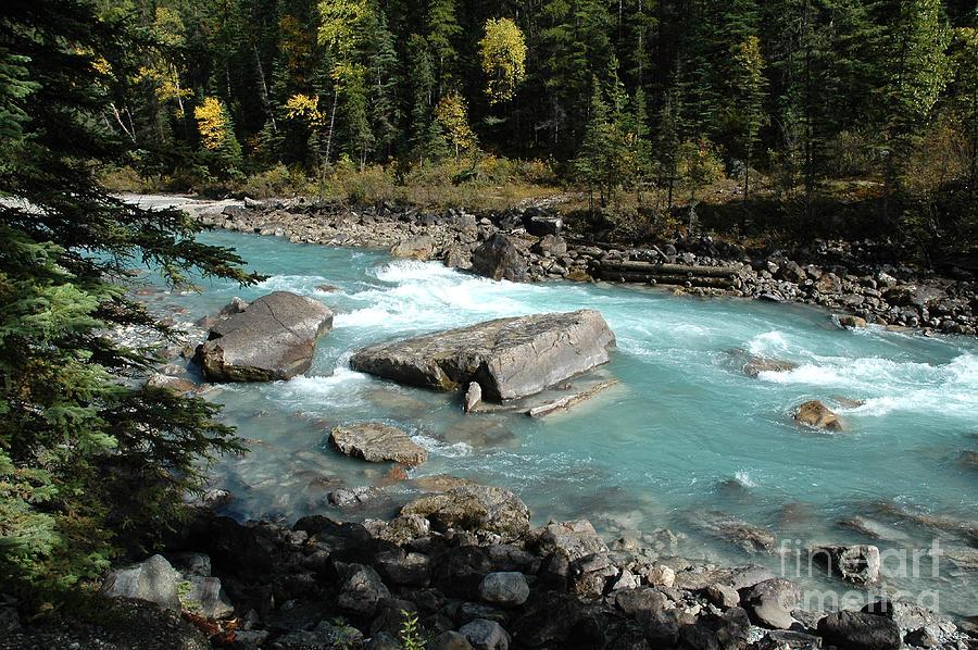 River Photograph - Yoho River by Bob and Nancy Kendrick