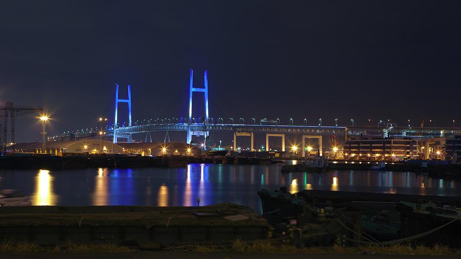 Yokohama Bay Bridge Photograph by Digipub