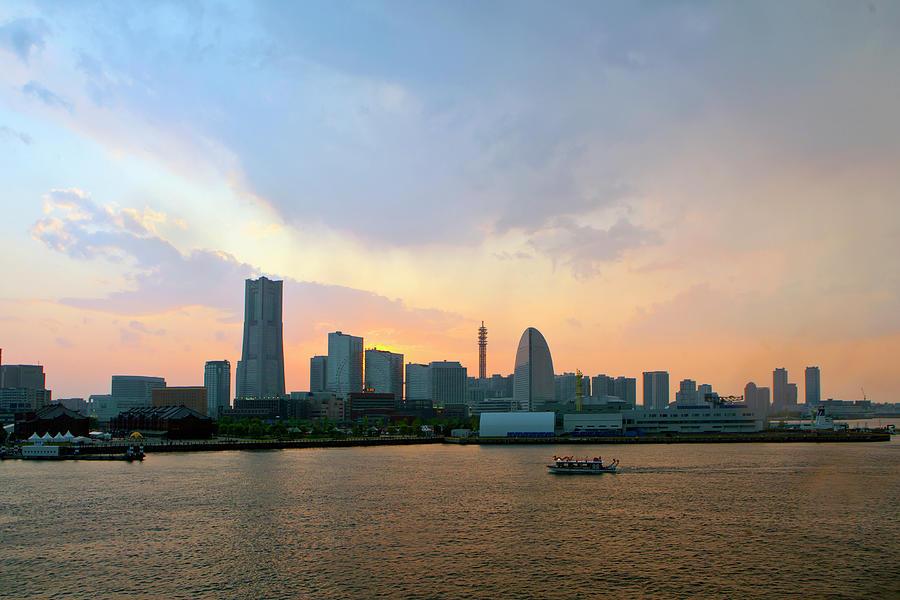 Yokohama Minato Mirai At Dusk Photograph by Digipub