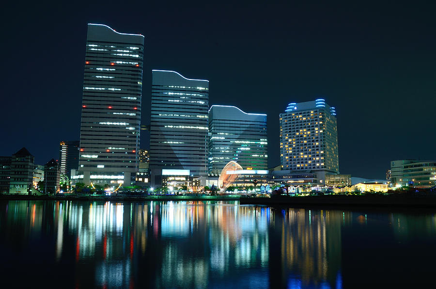 Yokohama Minato-mirai Photograph by Kaoru Hayashi