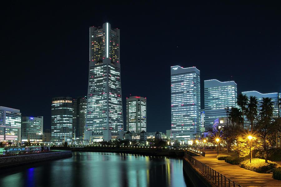Yokohama Minato Mirai On Friday Night Photograph by Digipub