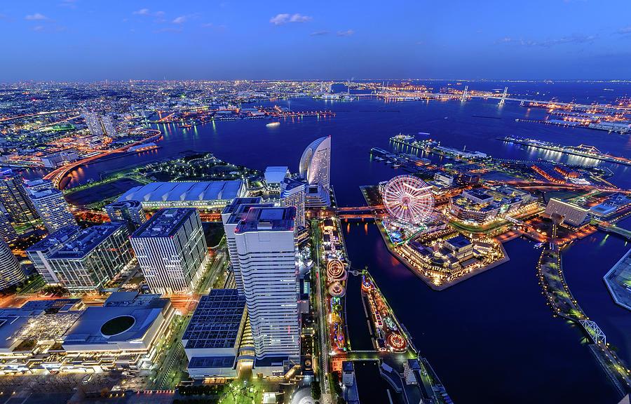 Yokohama Sky View Photograph by Takuya Igarashi