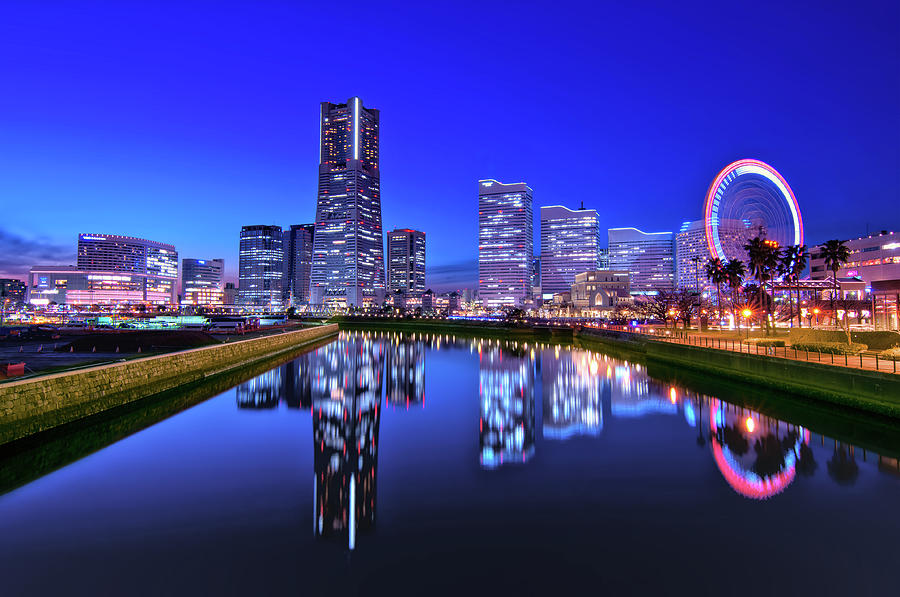 Yokohama Skyline At Dusk Photograph by Image Provided By Duane Walker