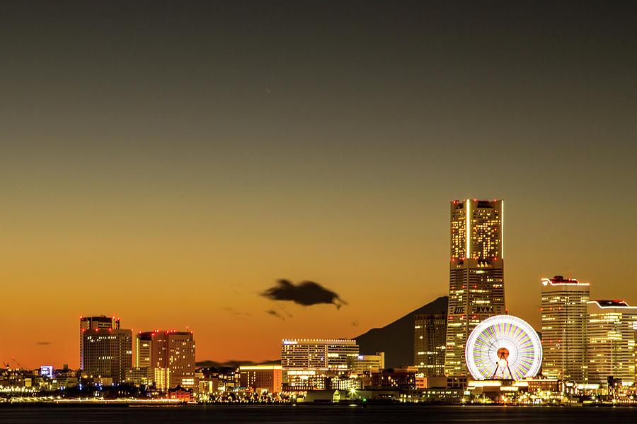 Yokohama Sunset View Photograph by Masashi Yukizane