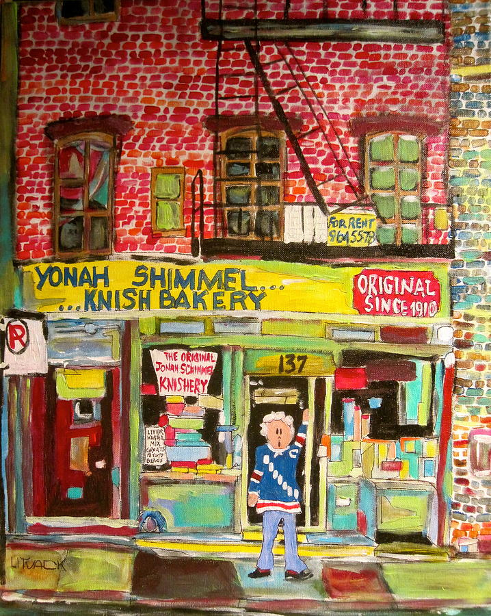 New York City Painting - Yonahs Knish Bakery by Michael Litvack
