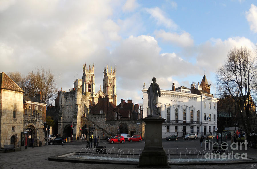 Castle Photograph - York Gallery Square by Neil Finnemore