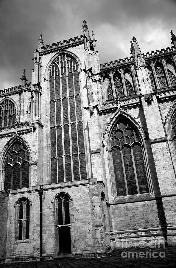 Abbey Photograph - York Minster by Deborah Benbrook