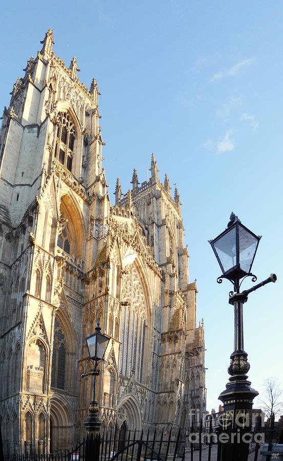 Castle Photograph - York Minster With Lampost by Neil Finnemore