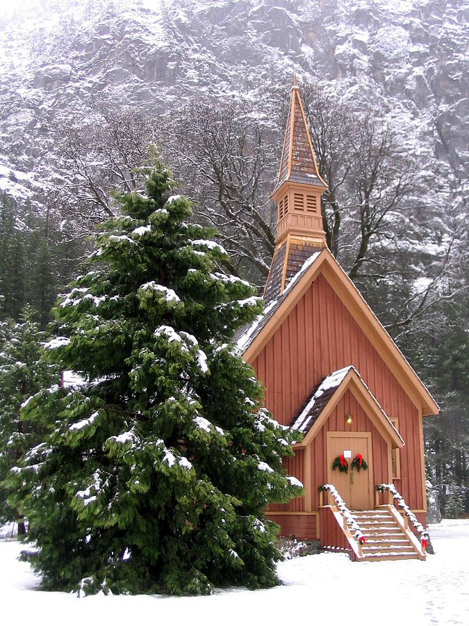 Yosemite Chapel in Winter by Kevin Desrosiers