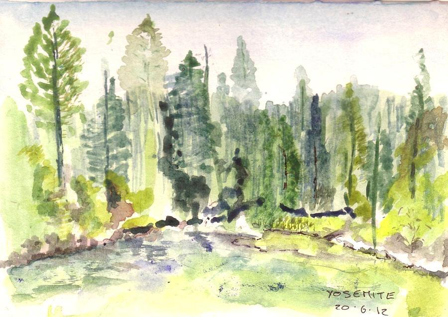 Yosemite Painting by David  Hawkins