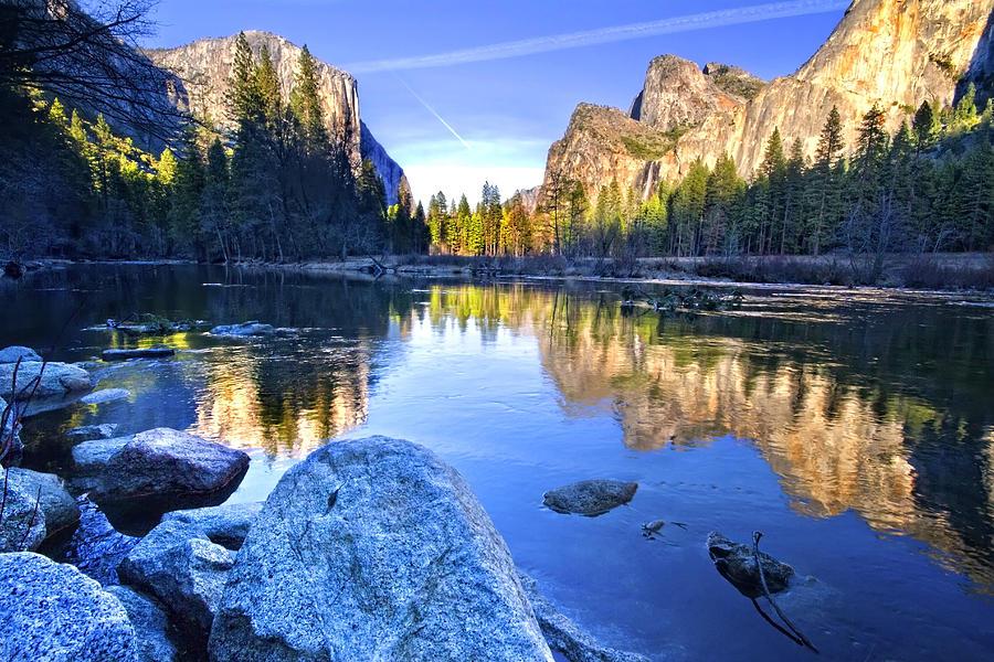 Yosemite Photograph - Yosemite Reflections by Julianne Bradford