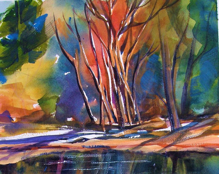 Yosemite National Park Painting - Yosemite Reflections With S.quiller by Therese Fowler-Bailey