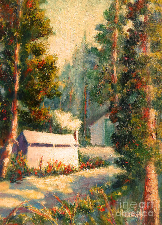 Tuolumne Meadows Painting - Yosemite Tent Cabins by Carolyn Jarvis
