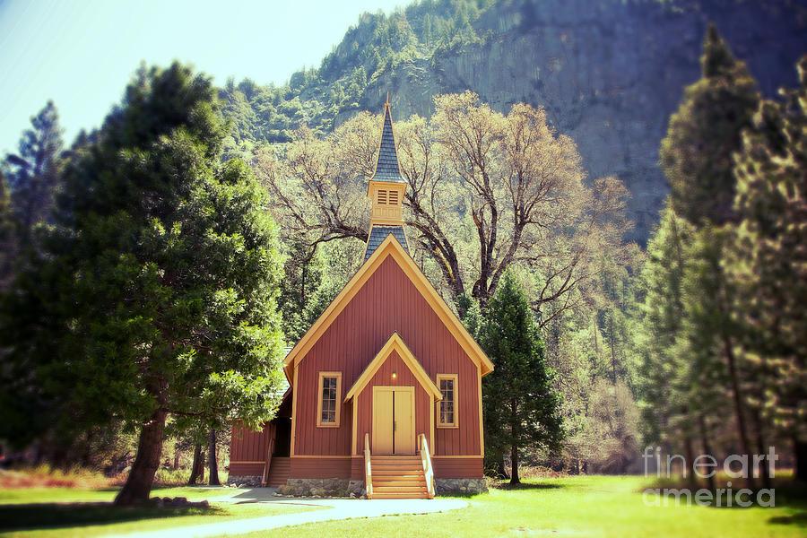 Yosemite Photograph - Yosemite Valley Chapel Lomo by Jane Rix