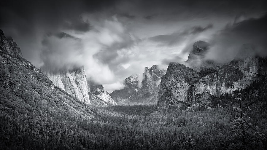 Usa Photograph - Yosemite Valley by Mike Leske