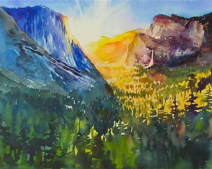 Landscape Painting - Yosemite Valley Morning by David Lobenberg