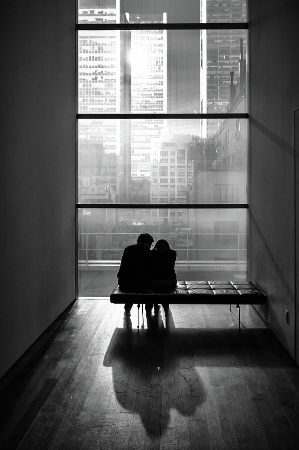Silhouette Photograph - You And Me by Tomer Eliash