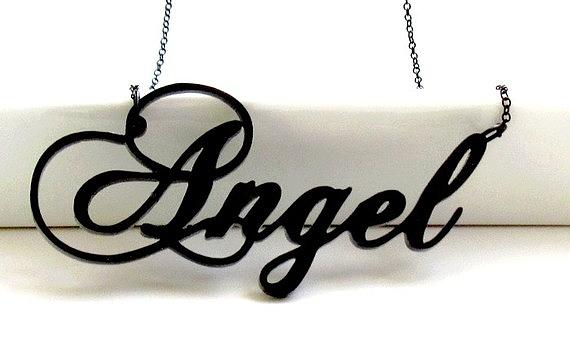 You Are My Angel Topography Necklace Jewelry By Rony Bank