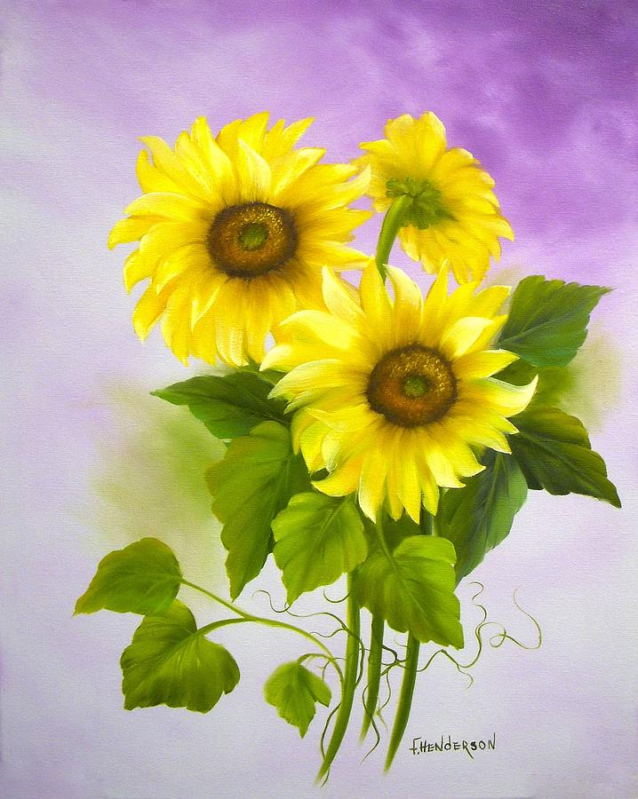 Sunflowers Painting - You Are My Sunshine by Francine Henderson