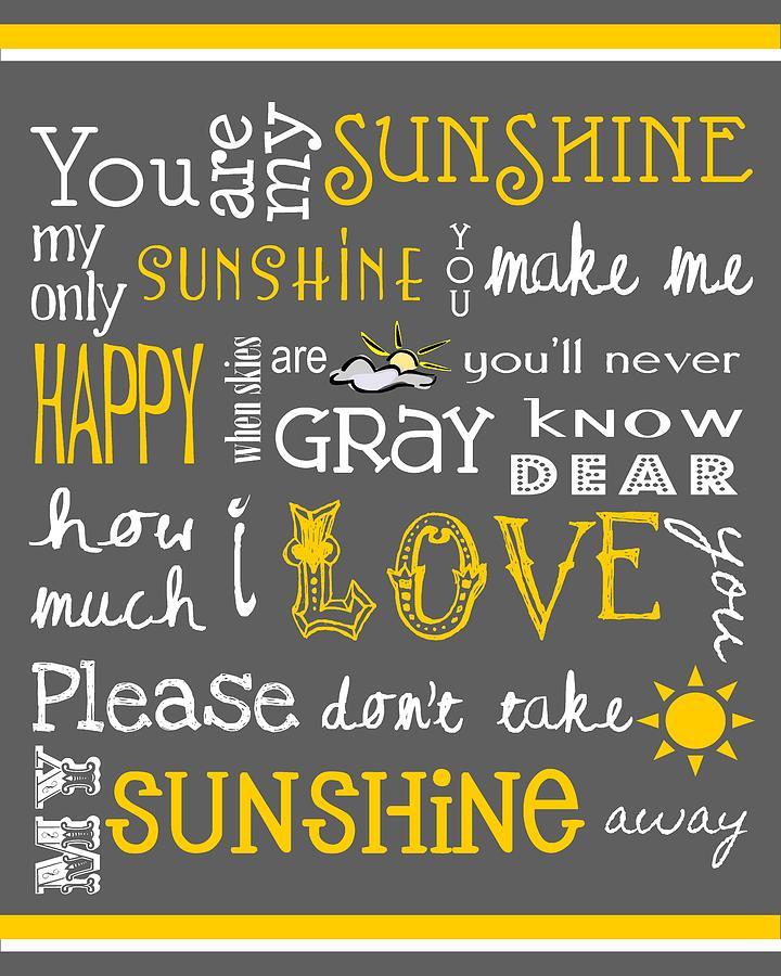 Baby Digital Art - You Are My Sunshine by Jaime Friedman
