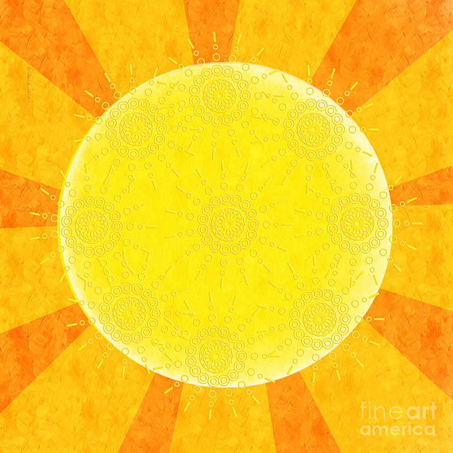 Abstract Digital Art - You Are The Sunshine Of My Life by Andee Design