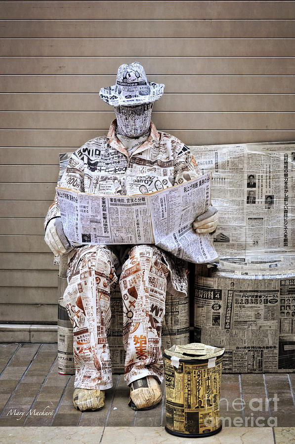 Newspaper Photograph - You Are What You Read by Mary Machare
