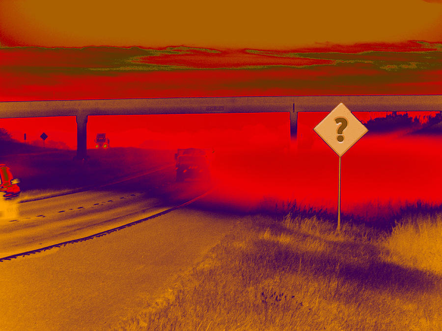 Expressway Digital Art - You Are Where by Wendy J St Christopher