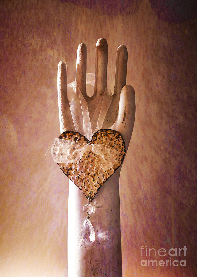 Hand Photograph - You Can Have My Heart by Terry Rowe