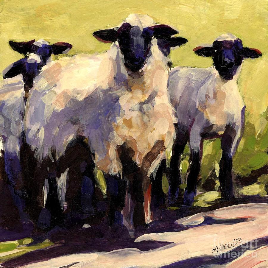 Sheep Painting - You First by Molly Poole