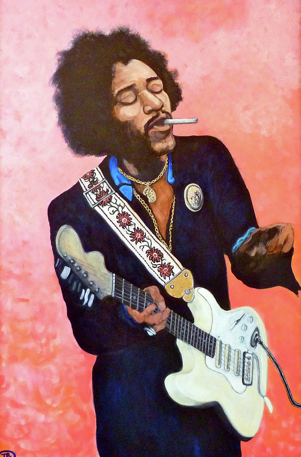 Jimi Hendrix Painting - You Got Me Floating by Tom Roderick