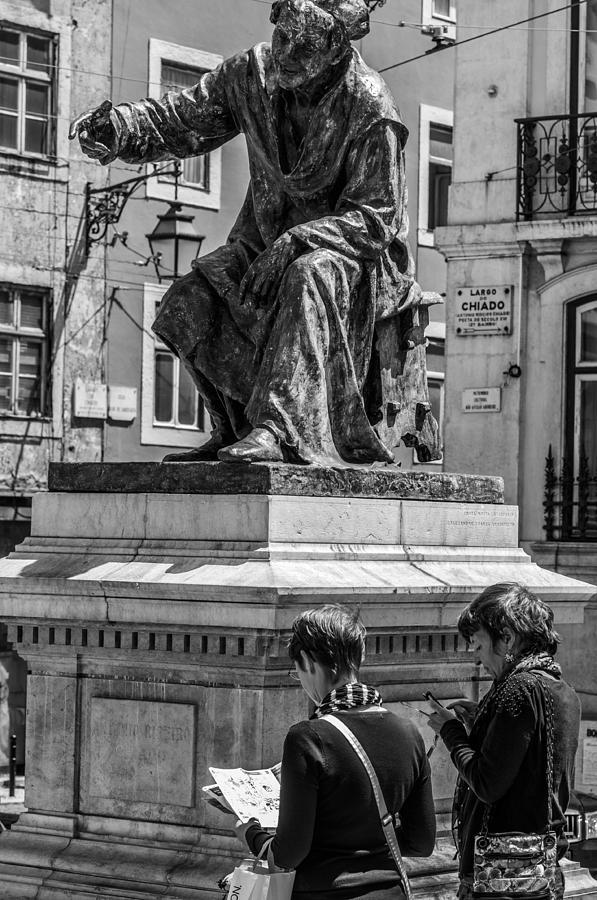 Lisbon Photograph - You Gotta Go That Way by Paul Donohoe