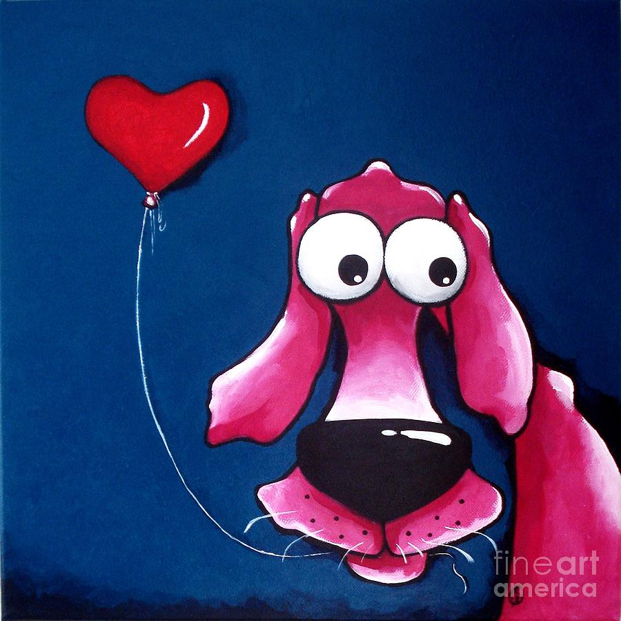 Dog Painting - You Have My Heart by Lucia Stewart