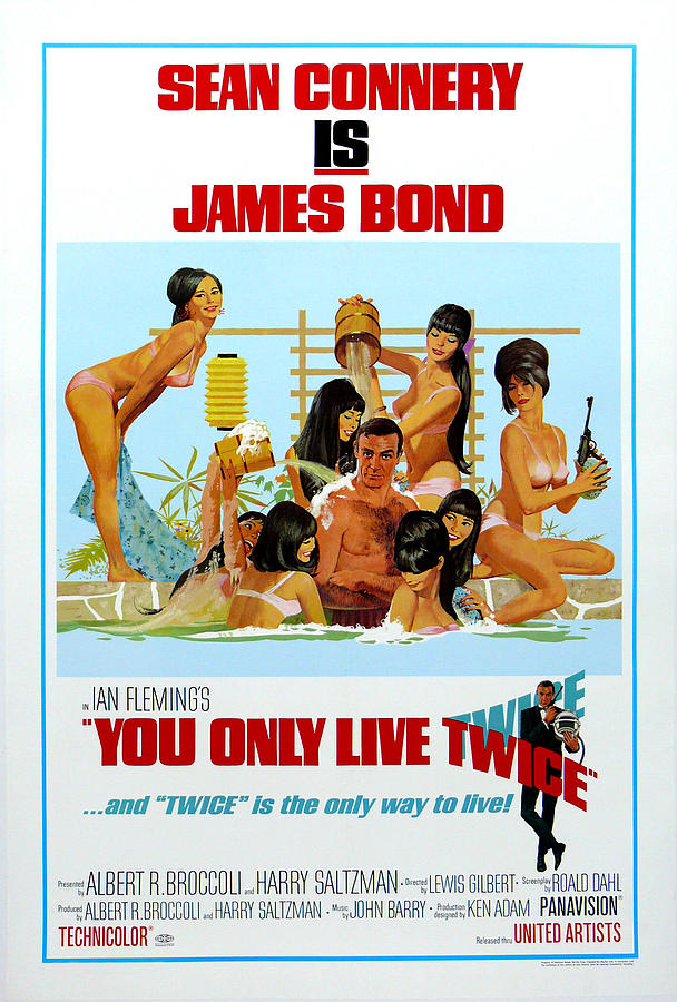 007 Digital Art - You Only Live Twice by Georgia Fowler