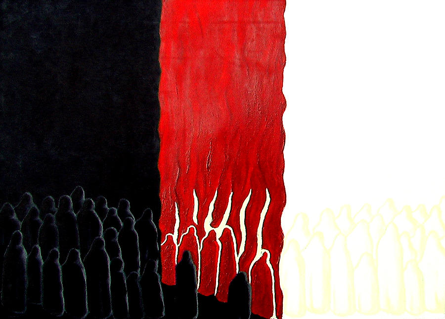 Jesus Painting - You Were There by Sandra Yegiazaryan