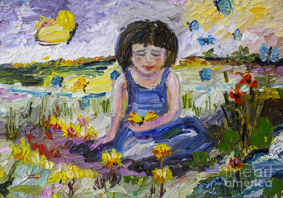 Impressionistic Painting - You Will Find Me By The Brook Where The Butterflies Live 2 by Ginette Callaway