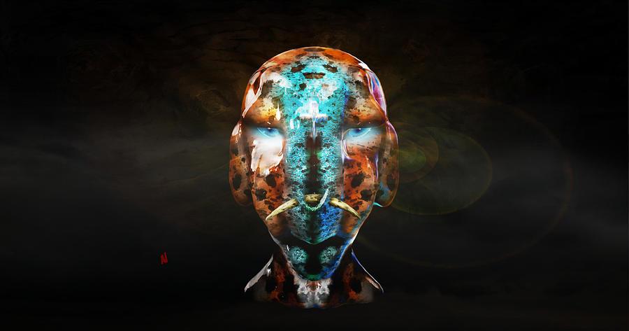 Alien Digital Art - Young Alien Warrior by Adam Vance