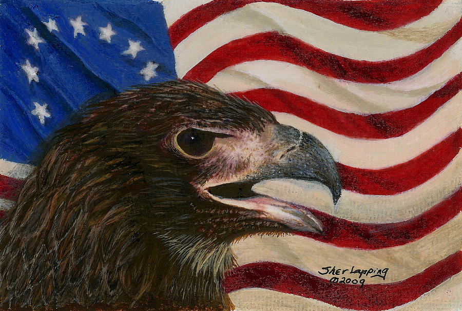 Eagle Painting - Young Americans by Sherryl Lapping