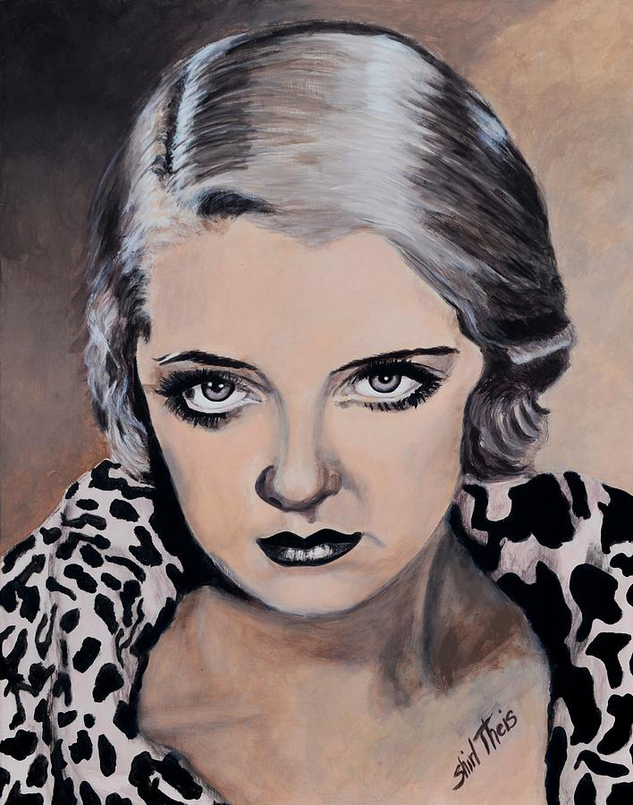 Bette Davis Painting - Young Bette Davis by Shirl Theis