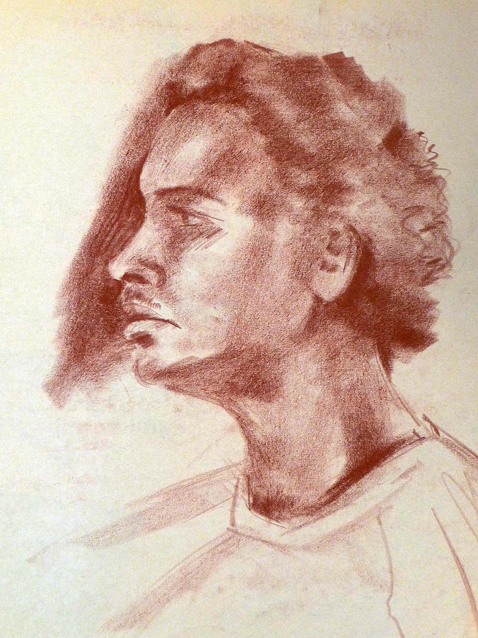Negro Drawing - Young Black And Handsome by Joan  Jones