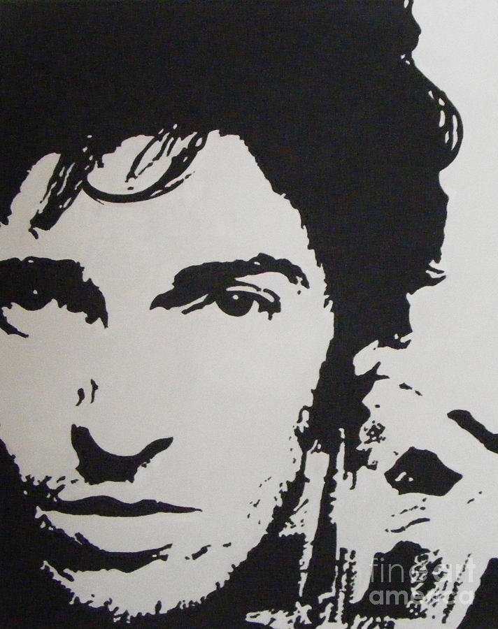 Bruce Springsteen Painting - Young Boss by ID Goodall