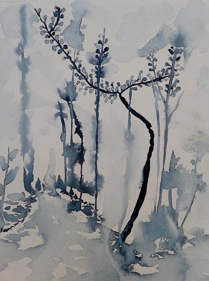 Wildlife Painting - Young Chestnut In Blue by Carolina Nunez Diaz